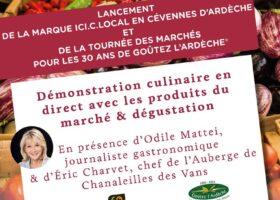 lancement de la tournée des marchés_Goûtez l'Ardèche